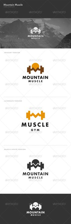 Mountain Muscle  - Logo Design Template Vector #logotype Download it here: http://graphicriver.net/item/mountain-muscle-logo/5737570?s_rank=333?ref=nesto