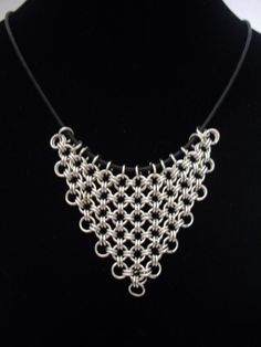Silver Chainmaille Pendant