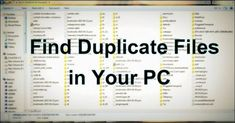 Lots of contents in our system are the duplicate files. So today I am going to s… Lots of contents in our system are the duplicate files. So today I am going to show how can you use duplicate files finder and delete files from your computer. Technology Hacks, Computer Technology, Energy Technology, Computer Programming, Computer Science, Technology Apple, Technology Quotes, Technology Wallpaper, Technology Background