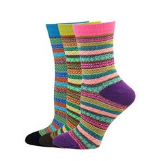 Pomlia Women's 3 Pair Pack Soft Comfortable Cotton Crew Socks Collection P01 Pomlia http://www.amazon.com/dp/B01E36NQDE/ref=cm_sw_r_pi_dp_.0ddxb0F883RD