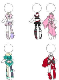 .:Adoptable bonus:. Outfit Batch 01 by DevilAdopts on deviantART