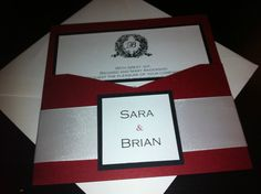 Red Black Cream Handmade Wedding Invitation | eBay