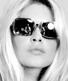 Brigitte Bardot...love the glasses and hair                                                                                                                                                      More