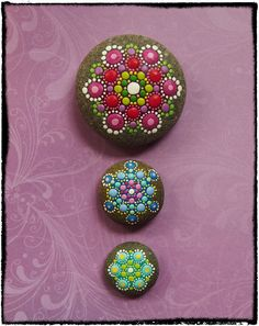 Elspeth McLean Mandala Stone Collection #elspethmclean #paintedstone #stone #rocks #mandala