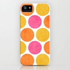 summer polka dots iPhone & iPod Case by her art - $35.00