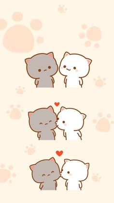 Couple wallpaper iphone backgrounds love wallpapers 32 Ideas for 2019 Kawaii Wallpaper, Cute Wallpaper Backgrounds, Cute Cartoon Wallpapers, Love Wallpaper, Iphone Backgrounds, Cute Couple Wallpaper, Kitty Wallpaper, Chat Kawaii, Kawaii Cat