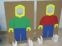 Lego man cut-outs – fun photo ops for my son's birthday party! Lego man cut-outs – fun photo ops for my son's birthday party! Lego Themed Party, Lego Birthday Party, Batman Birthday, Sons Birthday, 6th Birthday Parties, Birthday Ideas, Lego Parties, Bolo Lego, Lego Batman Party