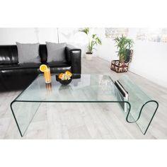 Table basse en verre transparent Ghost 125 cm