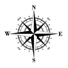 Art Design Vinyl NSWE Compass Car Stickers Decals Black Silver Car Stickers from Automobiles Motorcycles on Alibaba Group Nautical Compass Tattoo, Compass Art, Compass Drawing, Compass Tattoo Design, Arrow Compass Tattoo, Arrow Tattoos, Rose Tattoos, Gun Tattoos, White Tattoos