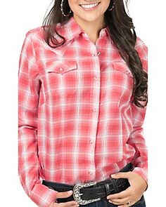 Cowgirl Up Women's Plaid Long Sleeve Western Shirt | My Style ...