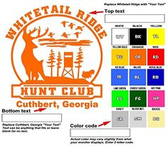 "Amazon.com: Custom hunting club vinyl decal your text and color hunt club name 6.5"" one color cut sticker: Automotive"