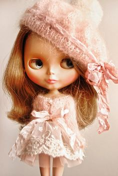 COTTON CANDY Beret For Blythe By Odd Princess by oddprincess