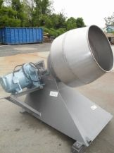 """1-USED APPROX. 27"""" DIAMETER STAINLESS STEEL COATING PAN. ON STAND, PAN HAS APPROX. 20"""" DIAMETER FRONT OPENING AND CHAIN IS DRIVEN BY 3/60/208-220-440 VOLT MOTOR. Wohl Associates sells great used equipment for your company. Pharmaceutical Equipment for your company."""
