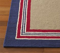 Tailored Striped Rug | Pottery Barn Kids $599