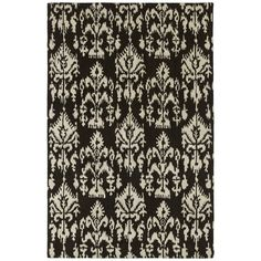 Swanky Black Ikat Wool Rug (9'6 x 13') | Overstock.com Shopping - Great Deals on 7x9 - 10x14 Rugs