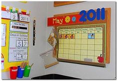 Calendar Time:- I thnk I have pinned this aleady, but I want to make sure I have all new ideas for my NEW classroom!!