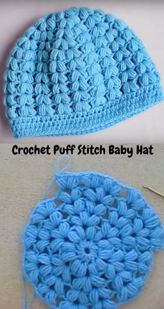 Wonderful Free puff stitch Crochet Hat Popular It is really Country wide Stitching month throughout September. Just simply since it is sewing month Crochet Baby Hats, Crochet Beanie, Free Crochet, Knitted Hats, Knit Crochet, Easy Crochet Hat, Puff Stitch Crochet, Crochet Stitches, Easy Crochet Patterns