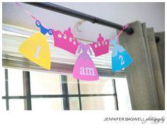 Disney Princess I am 1 or I am 2 Banner. $10.00, via Etsy.