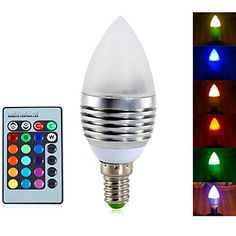 Luces LED en Vela Regulable / Control Remoto / Decorativa 无 A60(A19) E14 5W 3 LED Integrado 400 LM RGB AC 85-265 V 1 pieza 4443256 2016 – €7.99