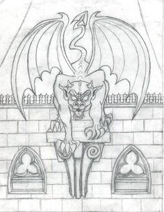 SciFi and Fantasy Art A Gargoyle by Jelena Kiric