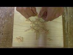 """若い建具職人が組子細工を作ってみた その2 Japanese craftsmanship """"Kumiko"""" no.2 - YouTube"""