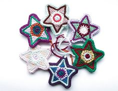 Colorful Star Christmas Star Christmas Decoration by Jennifer Roy on Ravelry   Crochet for Christmas