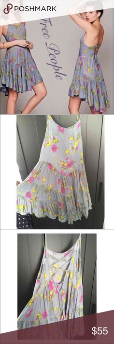 💝FREE PEOPLE ASYMMETRICAL DRESS💝 This beautiful dress is so soft and perfect for any occasion. Light and flows beautiful at the beach or on the town. Worn twice. Free People Dresses Asymmetrical