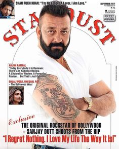 "d3990f33ec2 Sanjay Dutt on Instagram  ""I love my life the way it is!!! On stands now!   comingbacktolife  Stardust  Septemberissue  SanjayDutt  Mumbai  Bhoomi"""