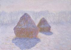 Claude Monet - Haystacks (Effect of Snow and Sun) [1891] | Flickr - Photo Sharing!