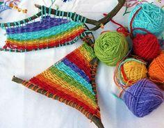 fun camping craft idea :)  Branch Weaving DIY