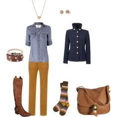 I need some skinny jeans that would work with these boots- but these yellow cords are CUTE! 