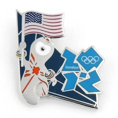 2012 Olympics Mascot US Flag Pin