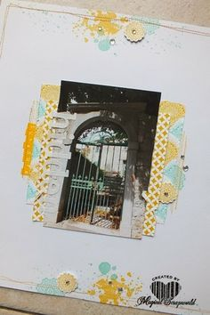 Like the DSP arrangement behind the photo. Stamp sets are gorgeous grunge, delicate doilies and around array.