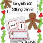 """This FREE download is a number recognition """"baking"""" center.  This Gingerbread Baking Center allows students to practice matching the number in stan..."""