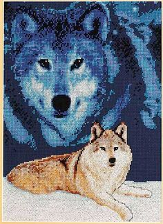 Janlynn  MAJESTIC WOLF  Complete Cross by CraftyCrossStitches, $20.00