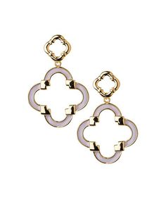 Look what I found on #zulily! Goldtone & Cream Quatrefoil Earrings #zulilyfinds