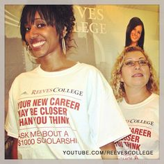 Your new career may be closer than you think - open house tshirts #tshirts #yournewcareer #maybecloser #youthink #ReevesCollege #Calgary #CityCentre #Campus #openhouse #event