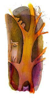 Cecilia Gandolfo - ilustraciones: Arboles nocturnos