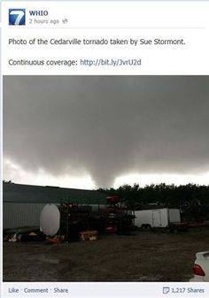 Cedarville Ohio 5-14-14 Cedarville Ohio, Tornado Alley, Tornadoes, Natural Disasters, Storms, Auntie, Weather, Sky, Heaven