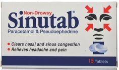 Sinutab Non-Drowsy - 15 Tablets.