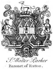 Jacobean style of bookplate
