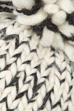 Cream and black wool and alpaca-blend 70% wool, 30% baby alpaca Dry clean