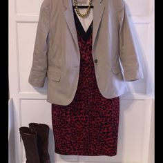 Plus size animal print dress Super sexy little number, wear a jacket over it and wear it to the office Forever 21 Dresses