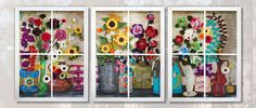 Flower Shop Window 10' x 4' x 7 CROCHET by sweetdashsprout
