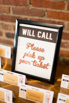 Wedding Receptions Give guests a game ticket in place of a traditional reception place card. Softball Wedding, Basketball Wedding, Sports Wedding, Buy Basketball, Wedding Signs, Wedding Cards, Wedding Day, Wedding Invitations, Wedding Bells