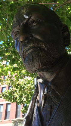 Sigmund Freud statue at Clark University in Worcester, Mass.