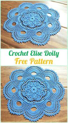 Crochet Elise Doily Free Pattern - #Crochet; #Doily Free Patterns