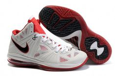 new style e4cfe 99dfe Air Foamposite Nike LeBron 8 PS Home White Black Varsity Red  Nike LeBron 8  PS - This Nike LeBron 8 PS Home White Black Varsity Red shoe is equipped  with a ...