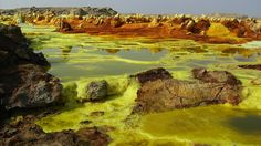 Ethiopia's Danakil Depression is one of the hottest and harshest places on Earth.