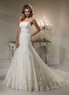 A-ligne de mariage robe en dentelle - Robes de Mariage Boutique
